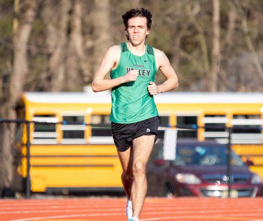 Senior+Chris+Alepa+runs+long+distance+for+the+track+and+field+team.+Alepa+is+one+of+many+seniors+who+will+provide+leadership+for+the+team+in+2021.