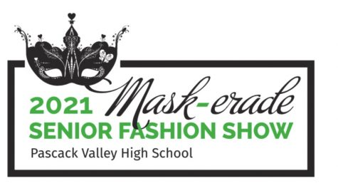 The theme and logo for the 2021 Senior Fashion Show is Mask-erade. The show will take place on May 11 at the Rockleigh Country Club.