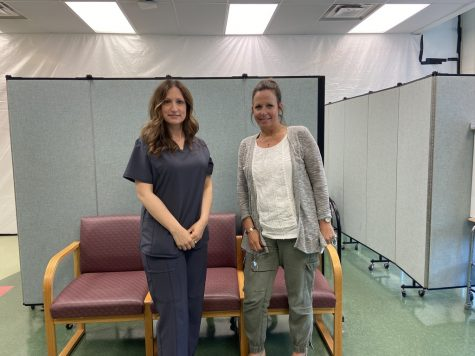 PV nurses (from left to right) Sandra Hroncich and Diane Fallon