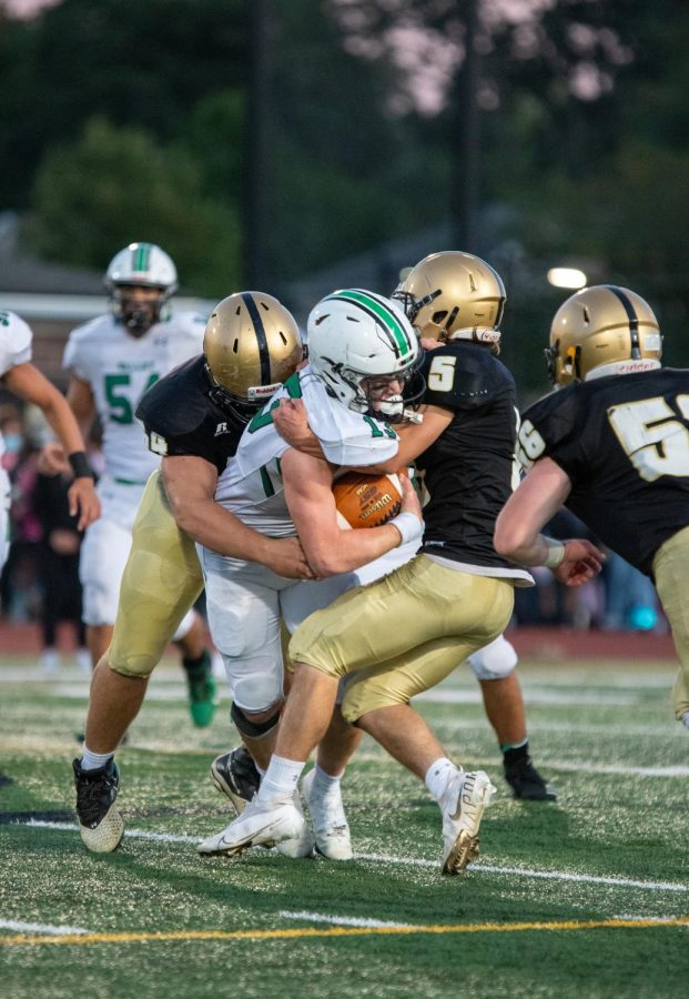 Nick Messina getting tackled by Riverdells defense